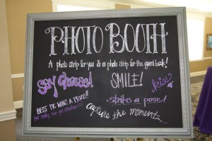 photo booth chalkboard
