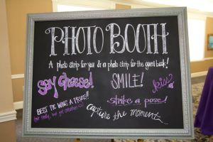 photo booth chalkboard