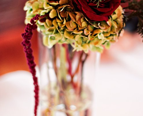 floral centerpiece - Hudson NY wedding