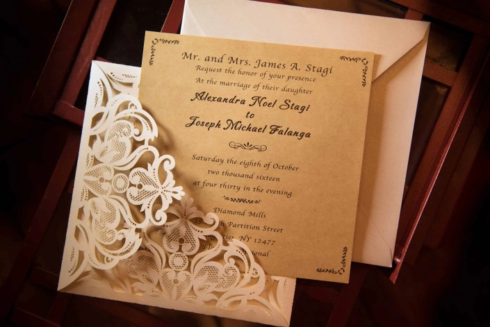 invitation - diamond mills wedding