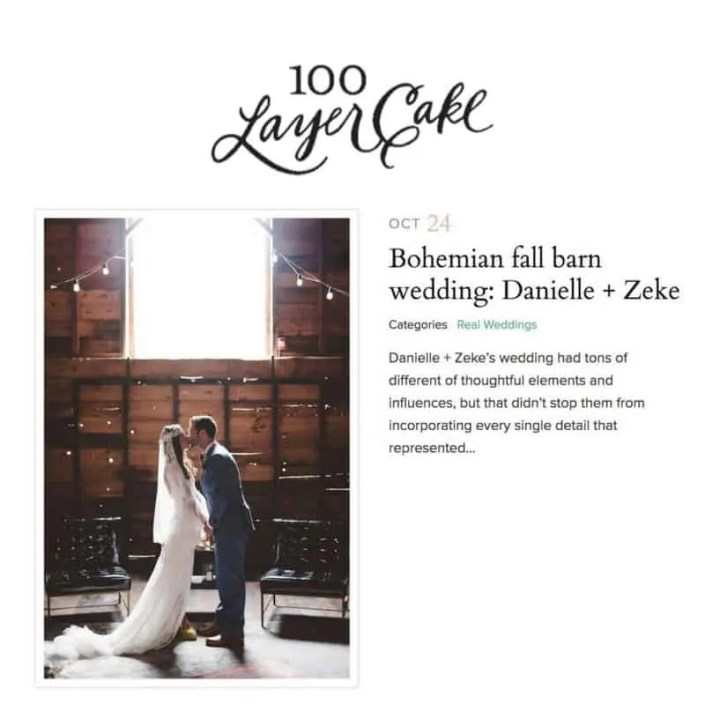 100 layer cake - boho wedding