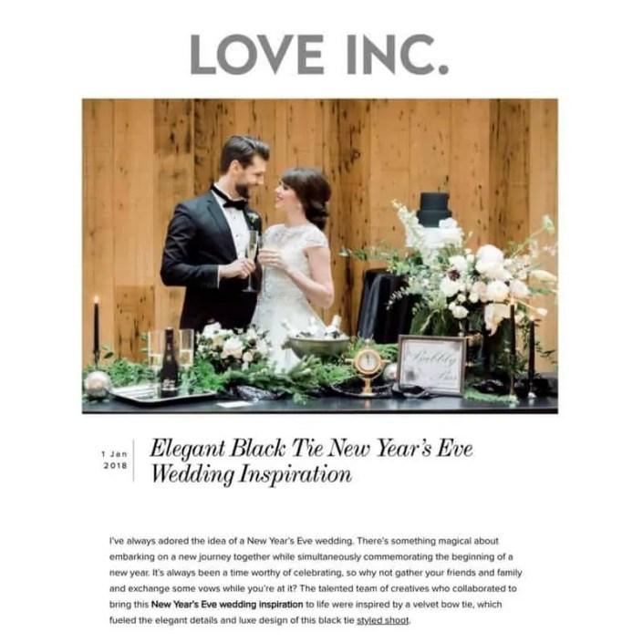 black tie wedding Inspo featured Love Inc