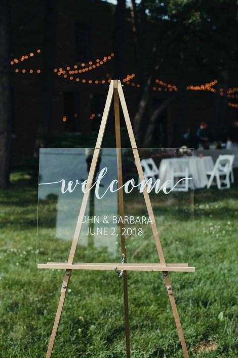 calligraphy welcome sign wedding