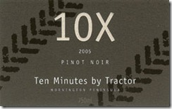 Ten Minutes by Tractor 10x Pinot Noir