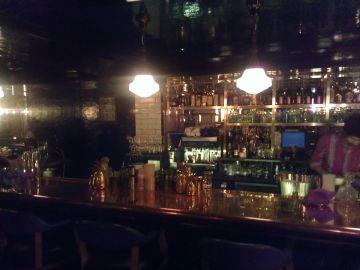 Hawksmoor Spitalfields Bar with blurred barman