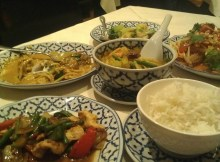 Bangkok Brasserie present an array of food