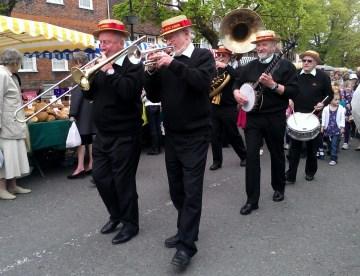 Marching jazz band