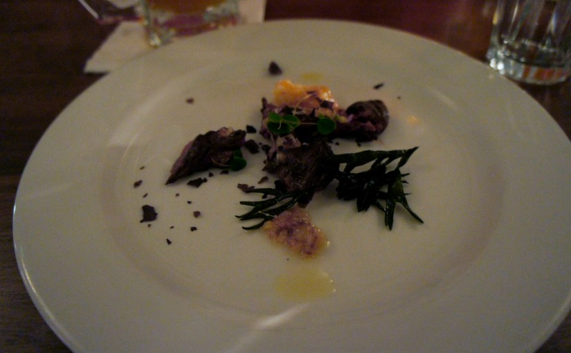 An insultingly small course at the Beef Cartel at Hawksmoor