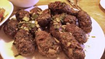 Brilliant Kofte B'siniyeh made with minced lamb from Beechcroft