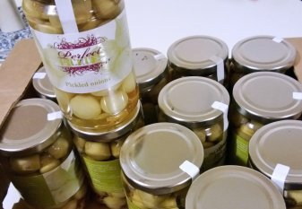 A small quantity of Perfect Pickles pickled onions