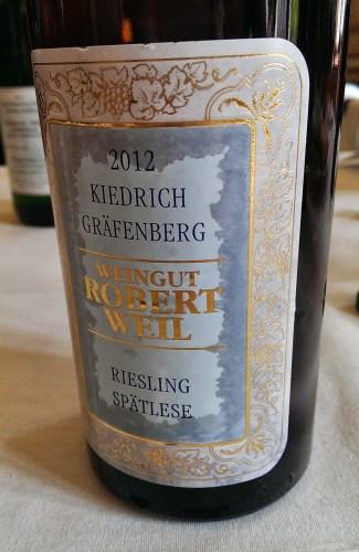 Robert Weil Kiedrich Grafenberg Spatlese 2012