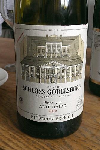 Pinot Noir Alte Haide 2010, Schloss Gobelsburg