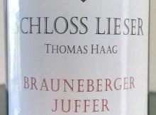 2012 Schloss Lieser Kabinett Brauneberger Juffer label