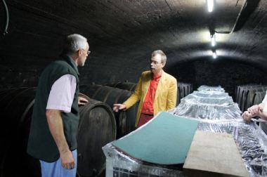 Willi Schaefer in the cellar