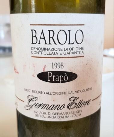 Barolo Prapo 1998, Ettore Germano