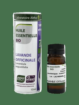 Lækker æterisk lavendelolie fra Laboratoire Altho, som er fri for skadelige tilsætningsstoffer.