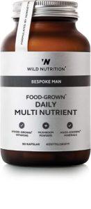 Food grown - Bespoke Man - Daily Multi Nutrient er det perfekte kosttilskud til den modne mand. Vitaminerne er lavet af madvarer.