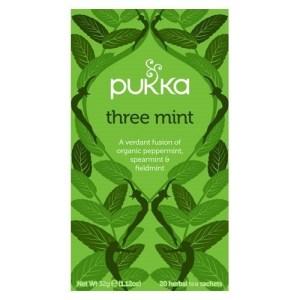 Three Mint te fra Pukka er en af vores favoritter. Køb den her hos Elixira!