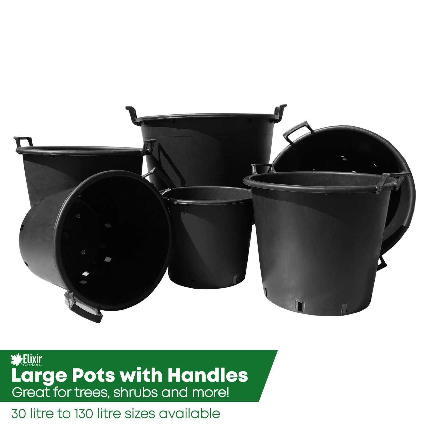 Large Plant Pot Container Planter With Handles 30 130 Litre Ebay