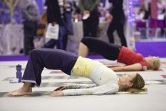 Yoga at London's Vitality Show