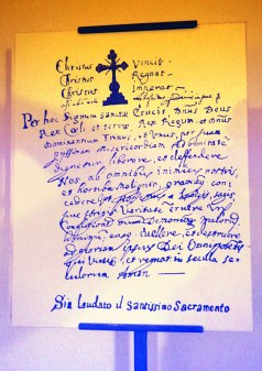 Handwritten letter texture from the Torture Museum in Potes, Spain