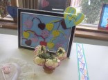 Crocheted hearts in a frame (from Alysha)