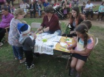 Kylie and Brianna at the table with some of the kids