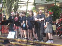 The singers from CBHS ensemble