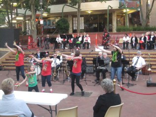 Theatre group dancing