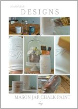 DIY Chalk Paint Mason Jars