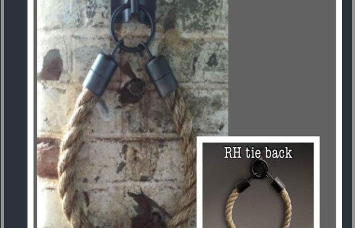 knock-off restoration hardware rope curtain tiebacks