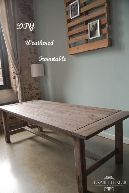 DIY Weathered Farmtable - Elizabeth Bixler Designs