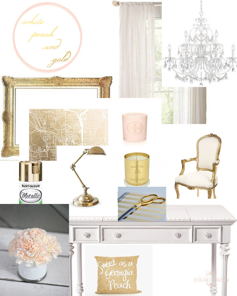 White Peach Gold Mood Board Copy