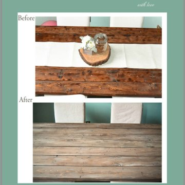 DIY Weathered Farm Table . The Trick to Making New Wood Look Old and Weathered