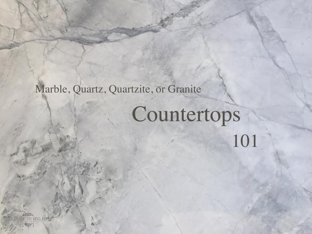 Countertops options marble quartz quartzite granite pros + cons