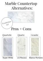 Marble Countertop Alternatives : Pros + Cons