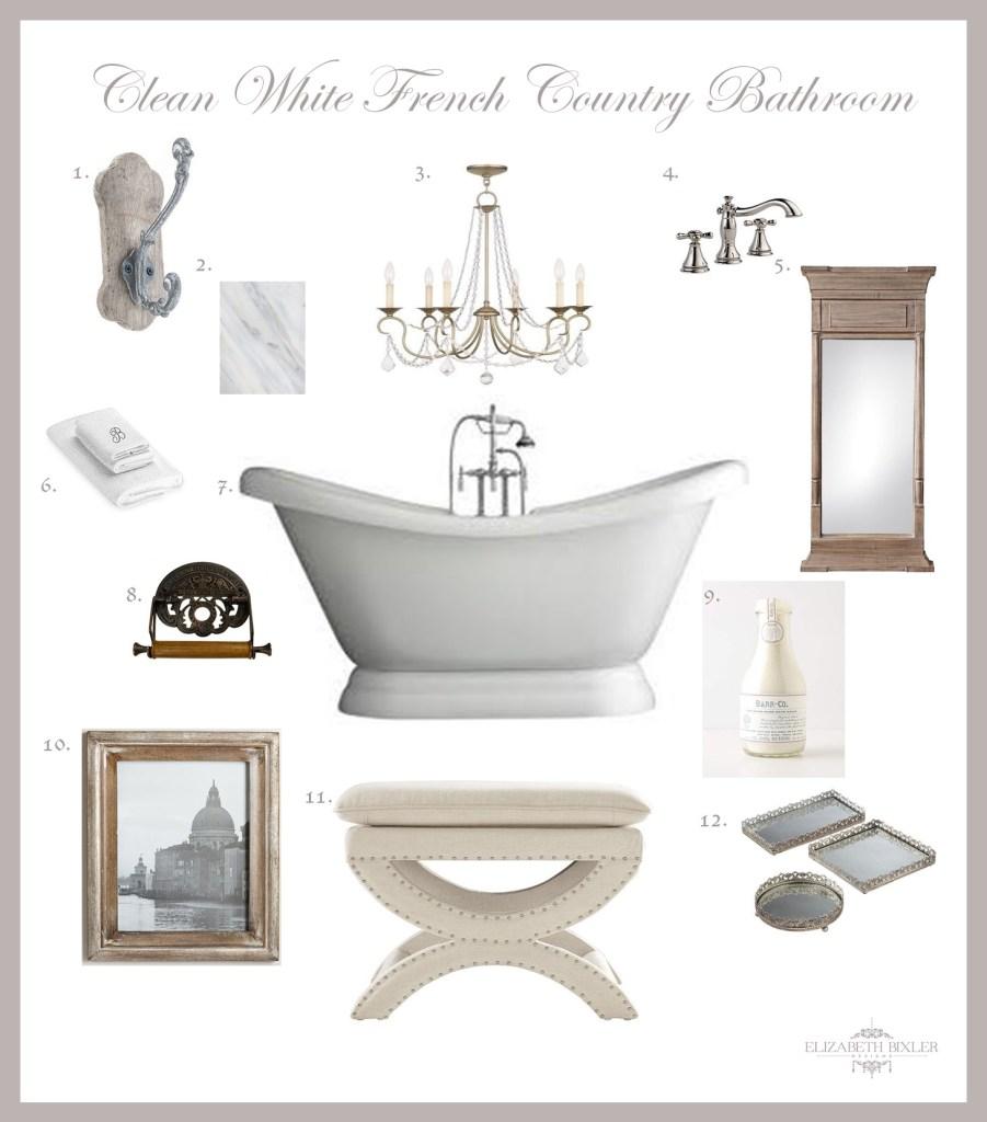 Master Bathroom board and decor collage