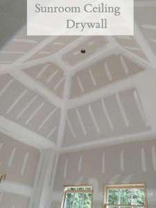 Sunroom Drywall on a Peaked Ceiling
