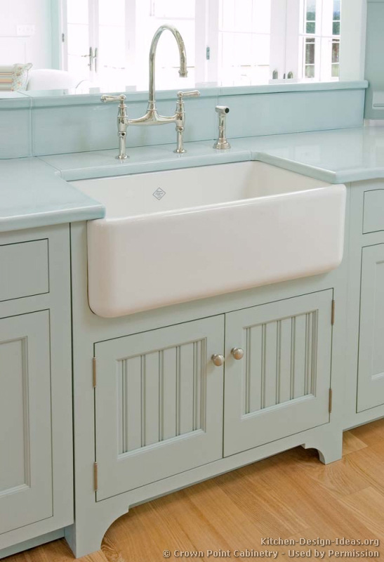 Rohl Sink Blue Kitchen