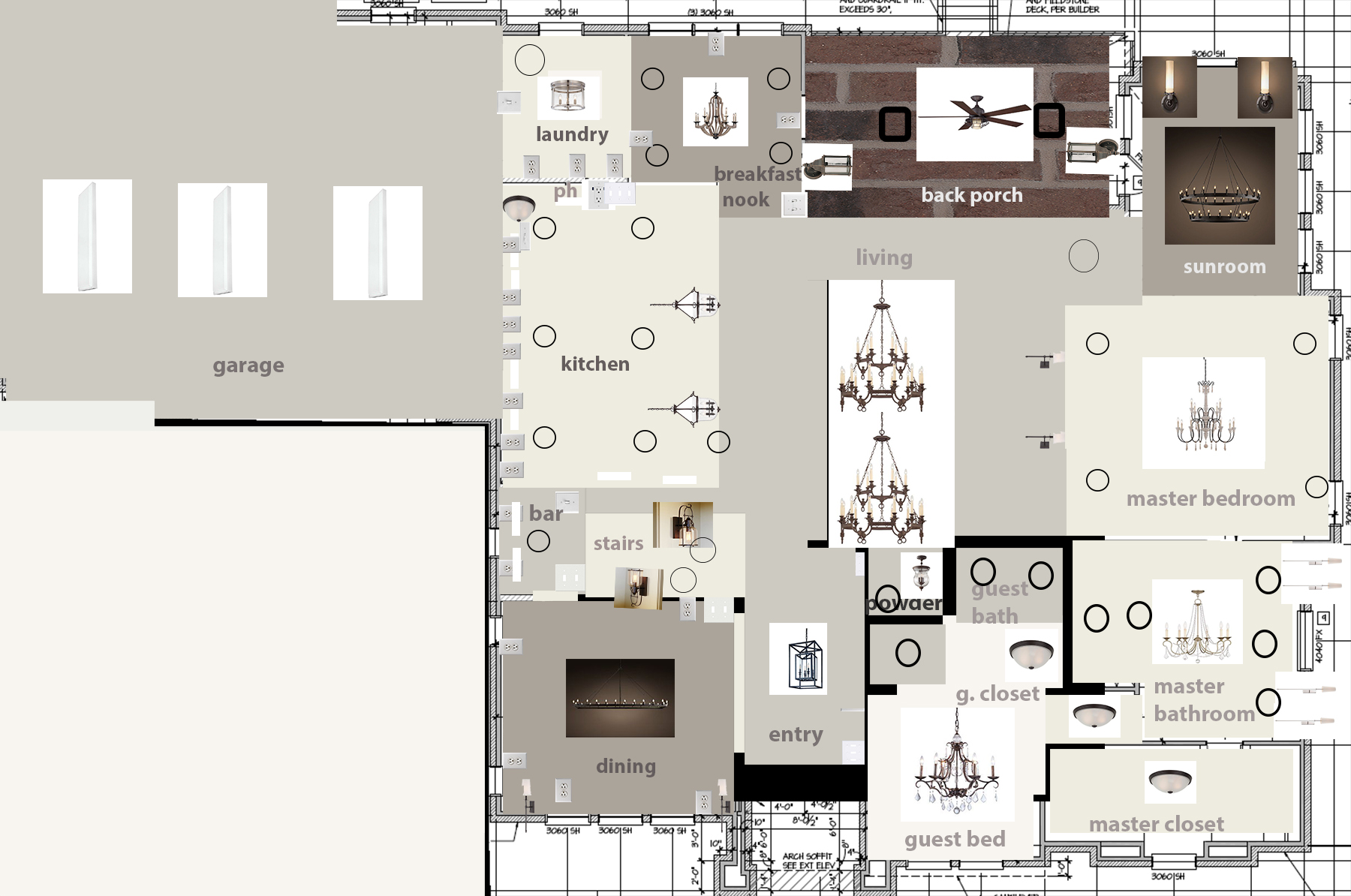 New Home Lighting Layout Floor Plan