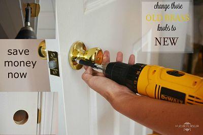 easy way to upgrade old brass door knobs