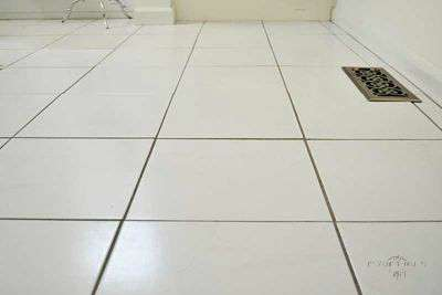 Renew Grout Line before and after how to diy