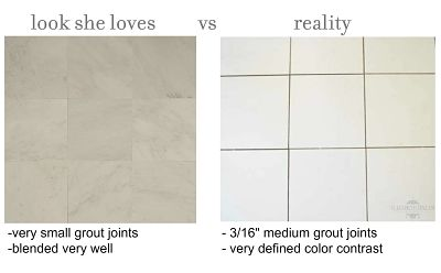 how to renew grout small versus large grout joints