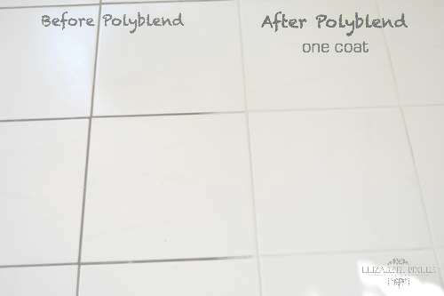 POlyblend Snow white before and after