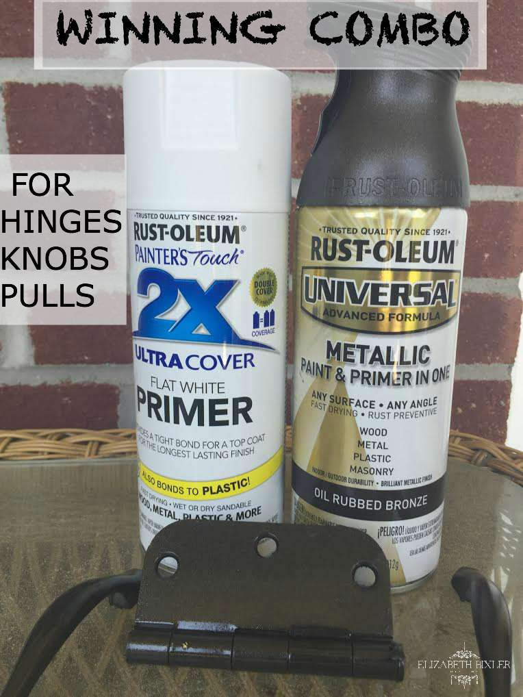 best paint for painting hardware ,hinges, knobs