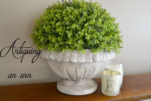 4 easy steps to distress a french urn with paint
