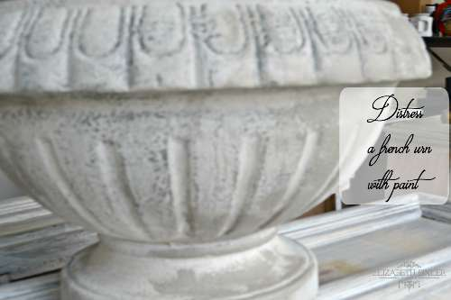 Using the sponging technique to age a french urn