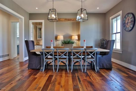 Sherwin Williams Dovetail is a deep warm gray for a study or dining room
