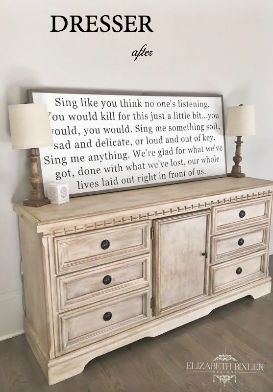 chalk painted dresser using annie sloan and dixiebelle