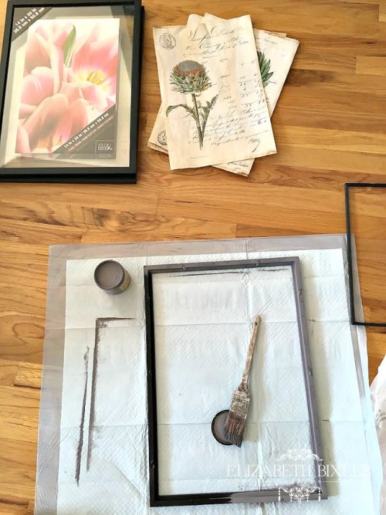 restoration hardware inspired chalk paint frame